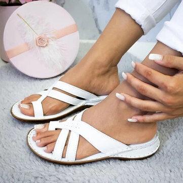 Sandales à bout plat confortables pour femmes