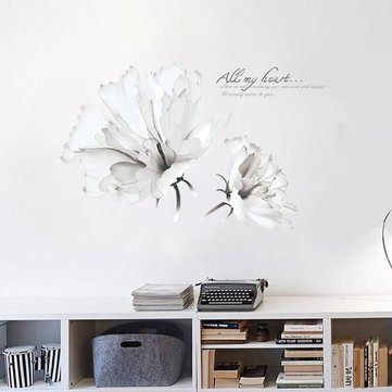 Flower Wall Stickers, White