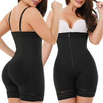 Plus Body Zip Front Bodysuits