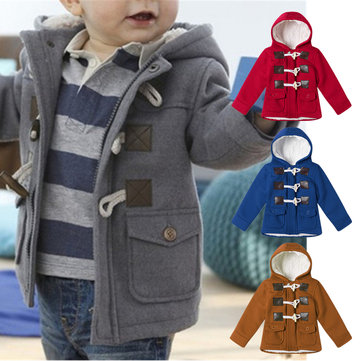 Toodler Horn Buckle Engrossar Jacket For 1-9Y
