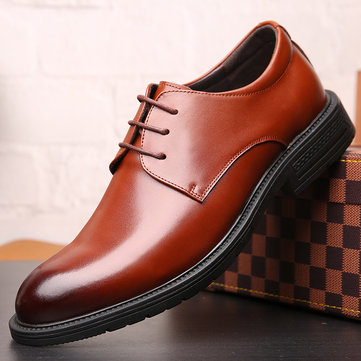 Men Mirofiber Leather Non Slip Formal Shoes