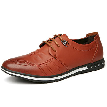 Men Microfiber Leather Soft Casual Shoes