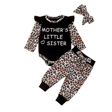 Baby Flying Sleeves Leopard Set For 0-24M