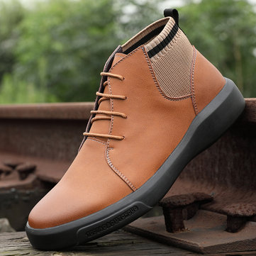 Men Cow Leather Outdoor Ankle Boots