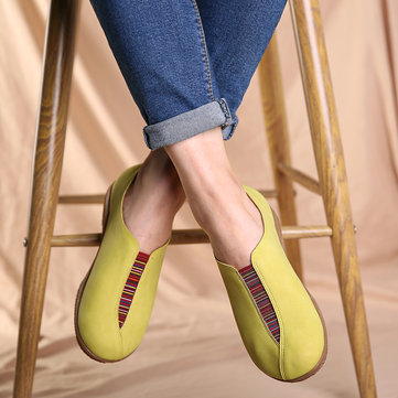 Suede Elastic Band Lazy Loafers