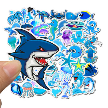 49Pcs Ocean Cartoon Animal Stickers