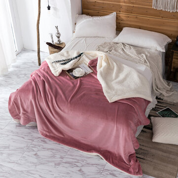 200x230cm AB Sided Thick Flannel Shearling Winter Blanket