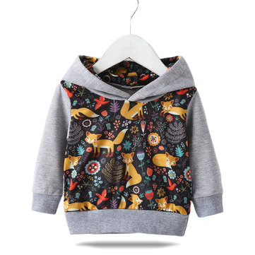 Toddler Cartoon Hooded Sweater For 1-5Y