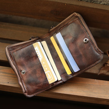 Men Vintage Card Holder Telefone sólido BagShort Wallet