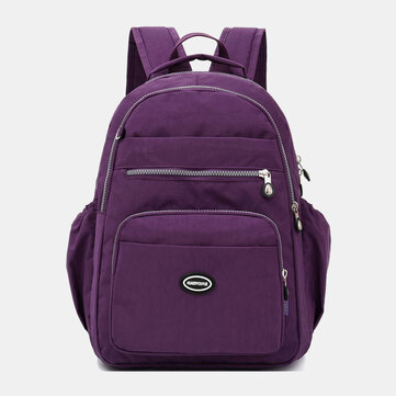 Nylon Water-Resistant Multi-Layer Backpack
