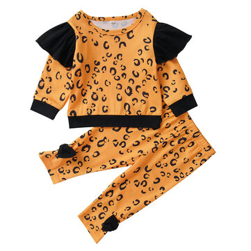 Baby Leopard Print Set For 0-24M