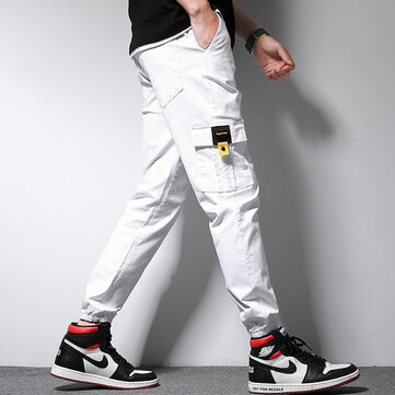 New Solid Color Nine Pants Men's Beam Multi-pocket Pants Factory Direct Batch Tooling Casual Pants