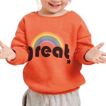 Girls Rainbow Cotton Sweater For 2-11Y