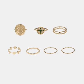 Stereoscopic Totem Rings Set