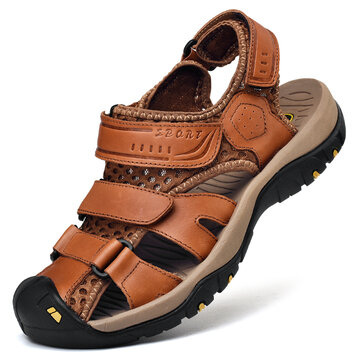Men Genuine Leather Casual Outdoor Sandals