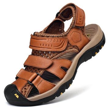 Männer echtes Leder lässig im Freien Sandalen