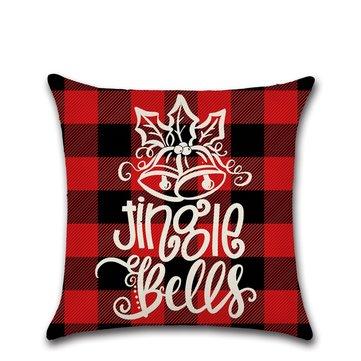 Taie d'oreiller de Noël en treillis rouge et noir classique
