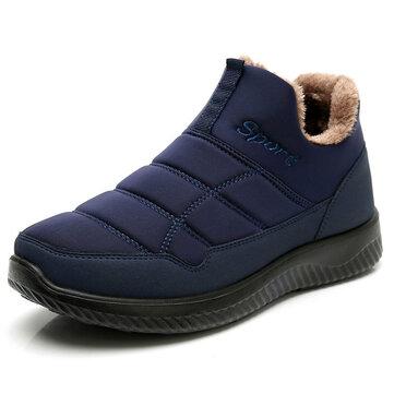 الرجال ضد للماء القماش أحذية الكاحل الدافئة