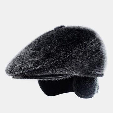 Imitation Mink Beret Forward Cap Middle-aged Winter Hat