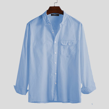 Mens Solid Color Shirts