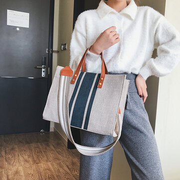 Big Bag New Japanese And Korean Women's Bag Fashion Canvas Bag Tide Casual Shoulder Bag Large Capacity Messenger Bag