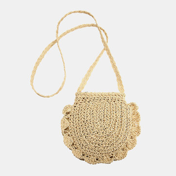 Summer Travel Straw Beach Bag