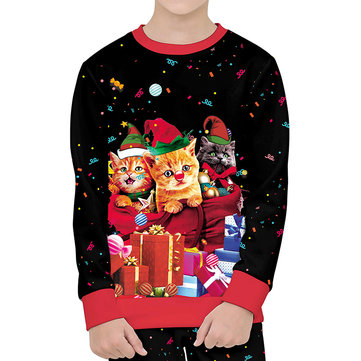 Toddler Christmas 3D Print Sweater For 4-13Y