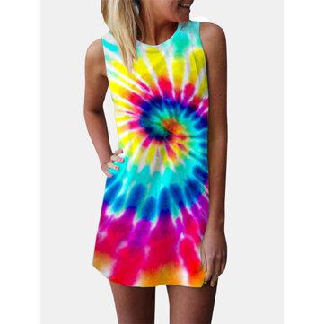 Printed Vest Mini Dress