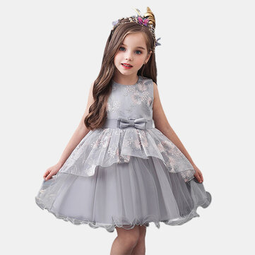 Girl's Tulle Birthday Dress For 1-7Y
