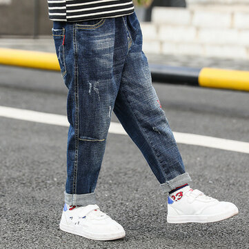 Children's Embroidered Stretch Jeans
