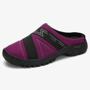Warm Lining Closed Toe Flat Slippers