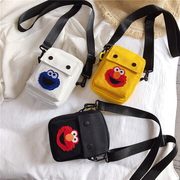 Sesame Street Small Bag Female Day New Phone Bag Ins Messenger Bag Wild Canvas Shoulder Bag