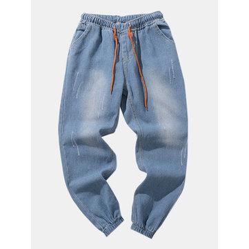 Vita elastica in denim da uomo Jeans