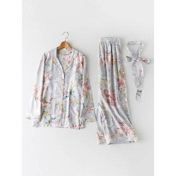 Ensembles de vêtements de nuit en coton floral