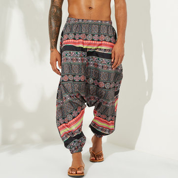 Mens Baggy Ethnic Style Harem Pants