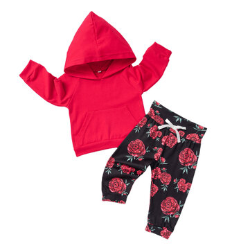 Baby Floral Print Casual Set For 0-24M