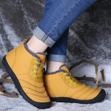 Waterproof Warm Lining Ankle Snow Boots