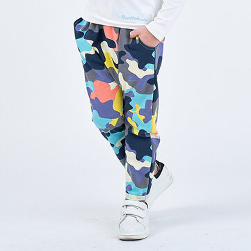Toddler Colorful Camouflage Pants For 2-8Y