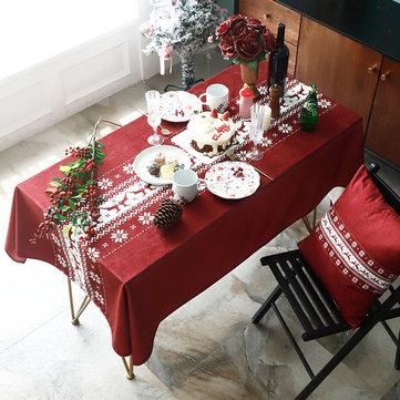Klassische Weihnachten Santa Elk Rechteckige Tischdecke