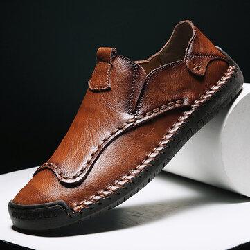 Chaussures à la main pour hommes, couture non glissante