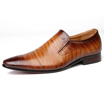 Menico Chaussures de ville pour hommes en cuir véritable