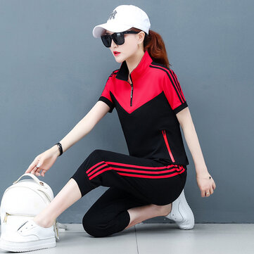 New Fashion Short-sleeved Women's Soil Casual Sportswear Set Decoration Body Two-piece Season Women's Clothing