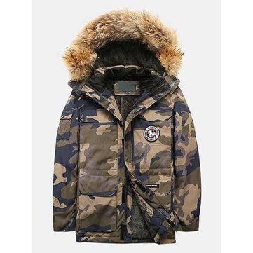 China Goose Detachable Fur Hooded Parka