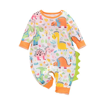 Baby Dinosaur Cartoon Rompers For 0-24M