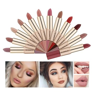 Double-head Natural Long-lasting Lipstick Non-stick Cup Matte Lip Gloss 2in1 Lipstick Lip Makeup
