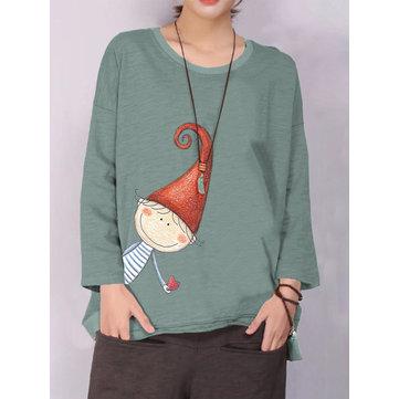Casual Print Autumn Sweatshirt