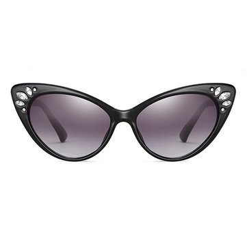 Men's Women's Cat's Eye Sunglasses Retro Rhinestone