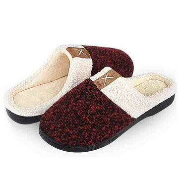 Cloth Indoor Furry Casual Flat Backless Slippers