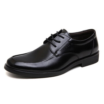 Men Comfy Round Toe Business Causal Shoes