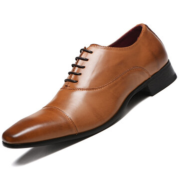 Men PU Leather Business Formal Dress Shoes